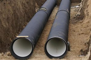 укладка труб водопровода