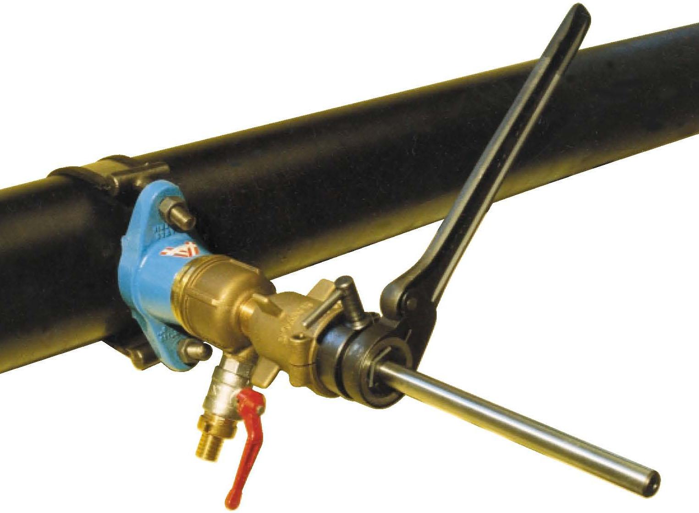 Как сделать врезку в чугунную трубу под давлением