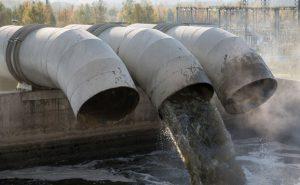 слив городской канализации