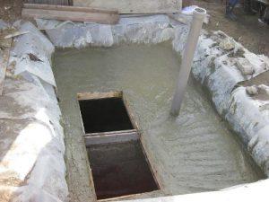 бетонный монолитный септик