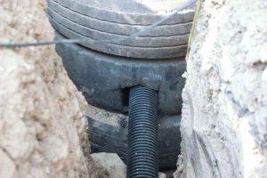 канализация из покрышек