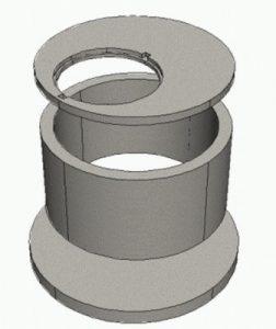 конструкция из бетонных колец